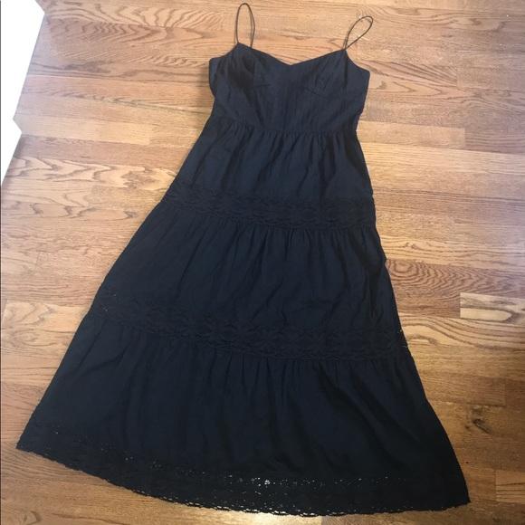 1f6181dee18 LOFT black cotton crochet detail sundress size 4